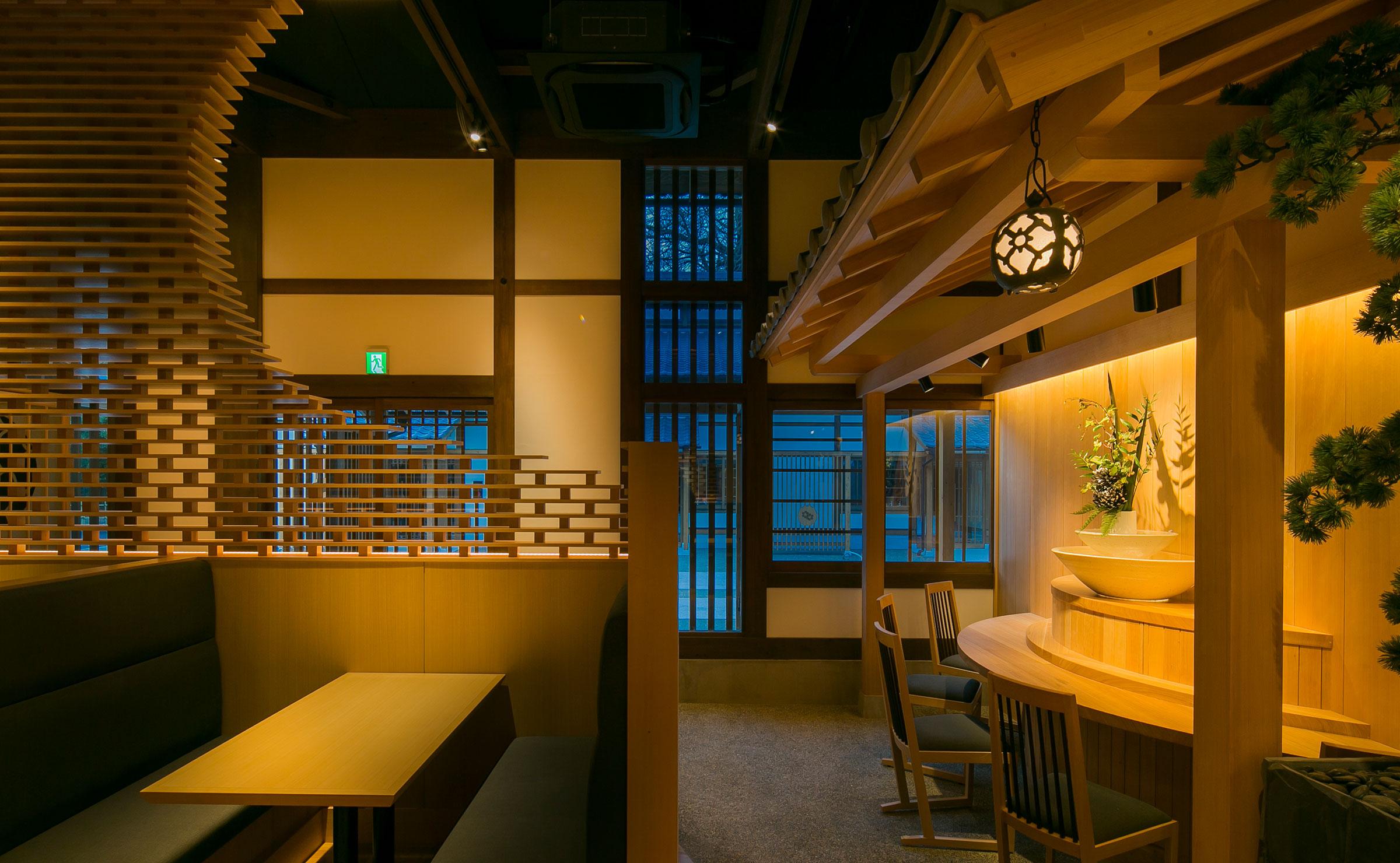 高級和食居酒屋の内装デザイン
