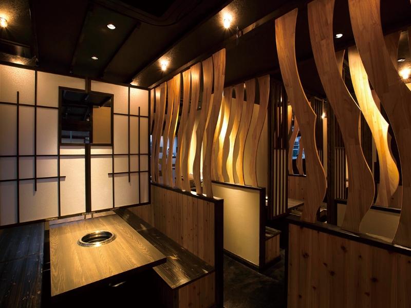 焼肉店のボックス席の内装デザイン
