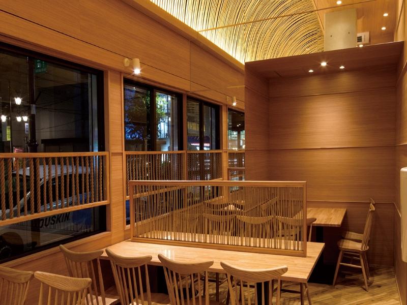 竹材を用いたパーティションのデザイン