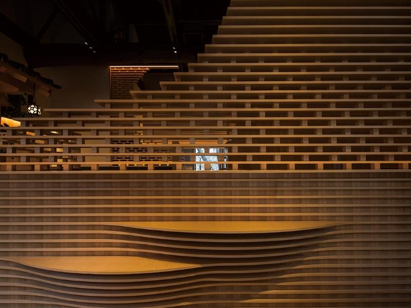 木材を用いたパーテーションデザイン