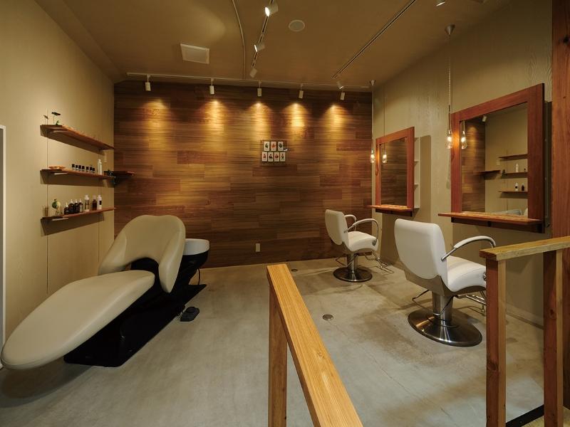 高級な美容室のシャンプー台のデザイン