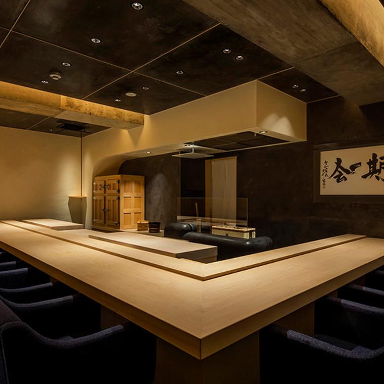 高級寿司店の内装デザイン