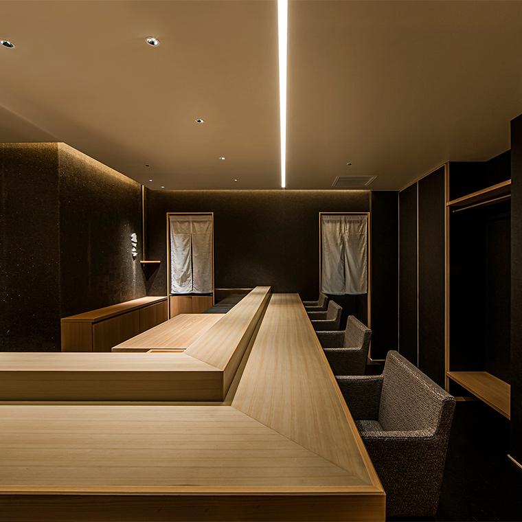 高級寿司店の店舗設計
