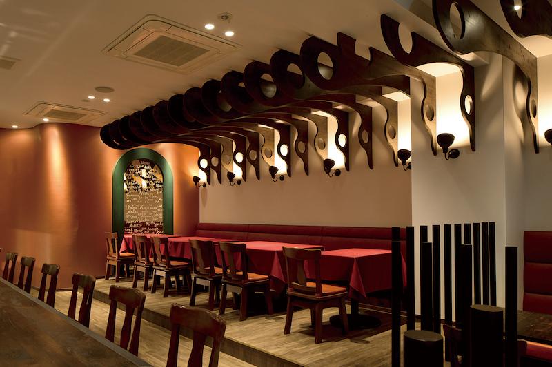 飲食店の床材デザイン