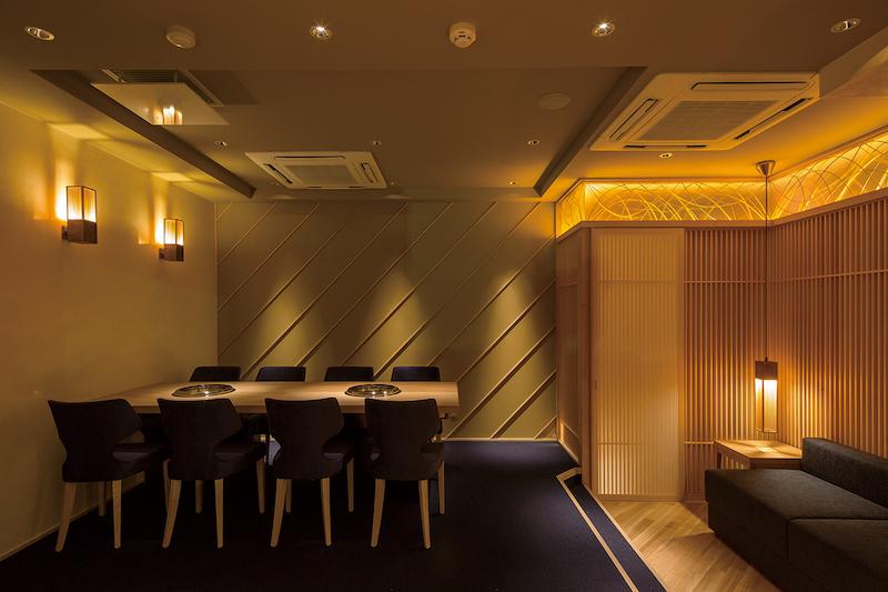 高級焼肉店の個室のデザイン