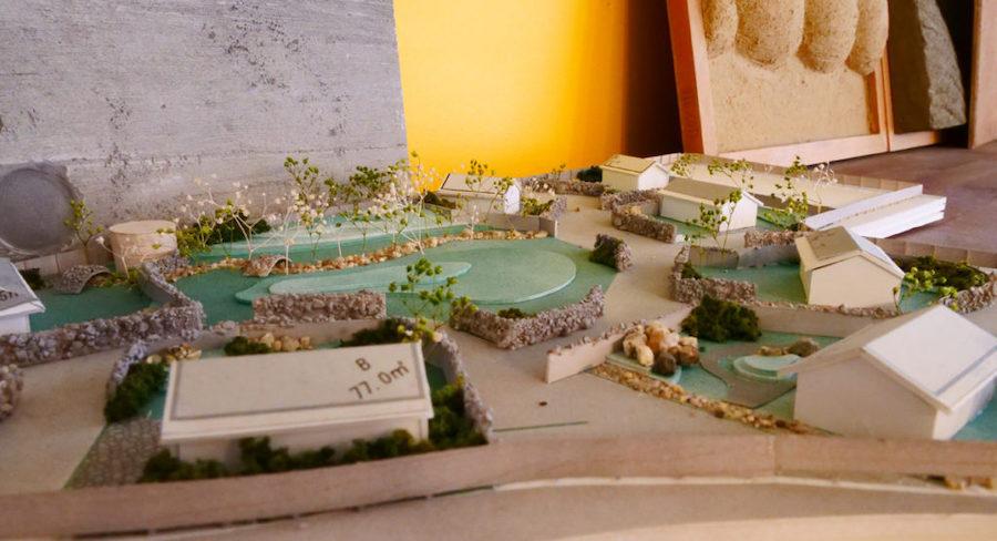 デザイン事務所にある住宅模型